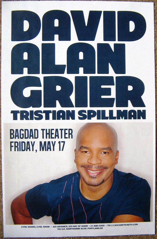 Image 0 of Grier DAVID ALAN GRIER 2013 POSTER Gig Portland Oregon Comedy