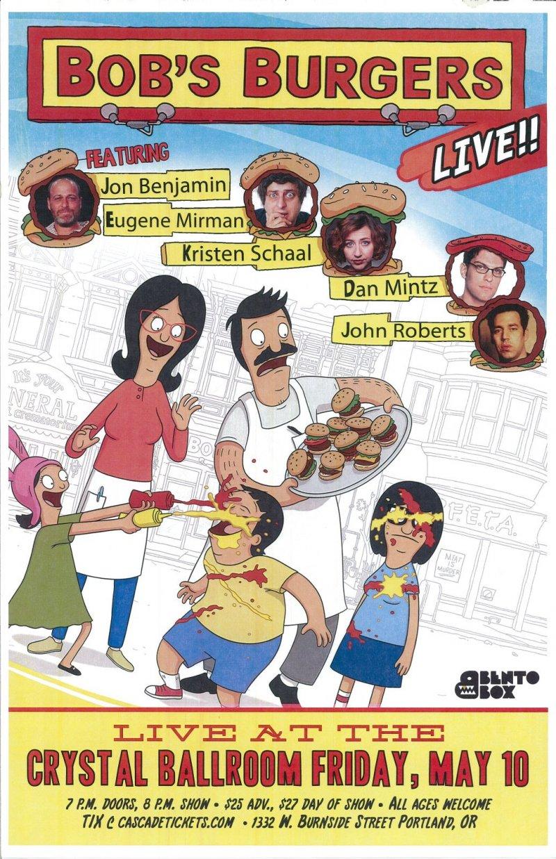 BOB S BURGERS 2013 Gig Portland Oregon Comedy Live Show Jon Benjamin   E. Mirman