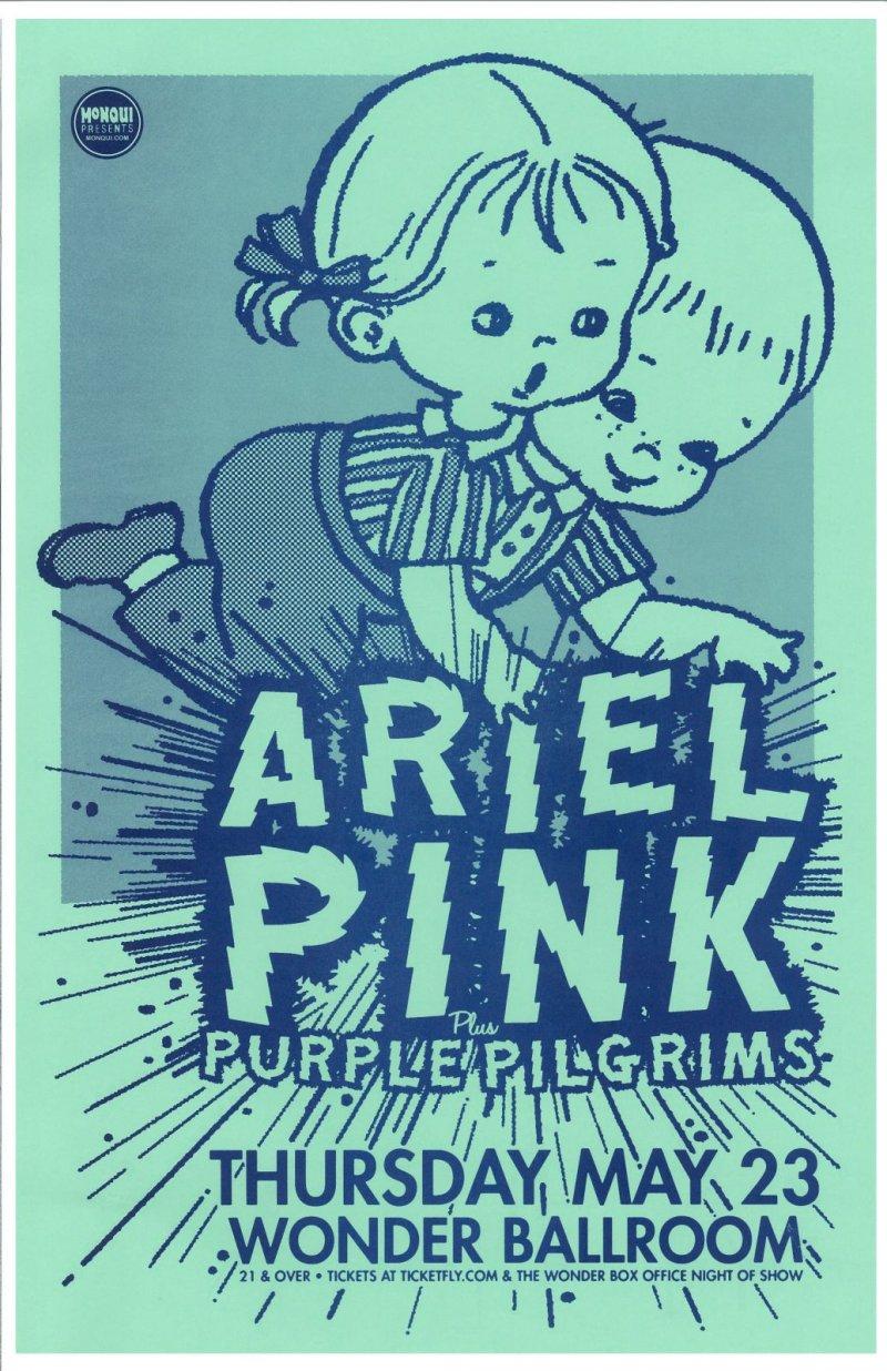 ARIEL PINK 2013 Gig POSTER Portland Oregon Concert