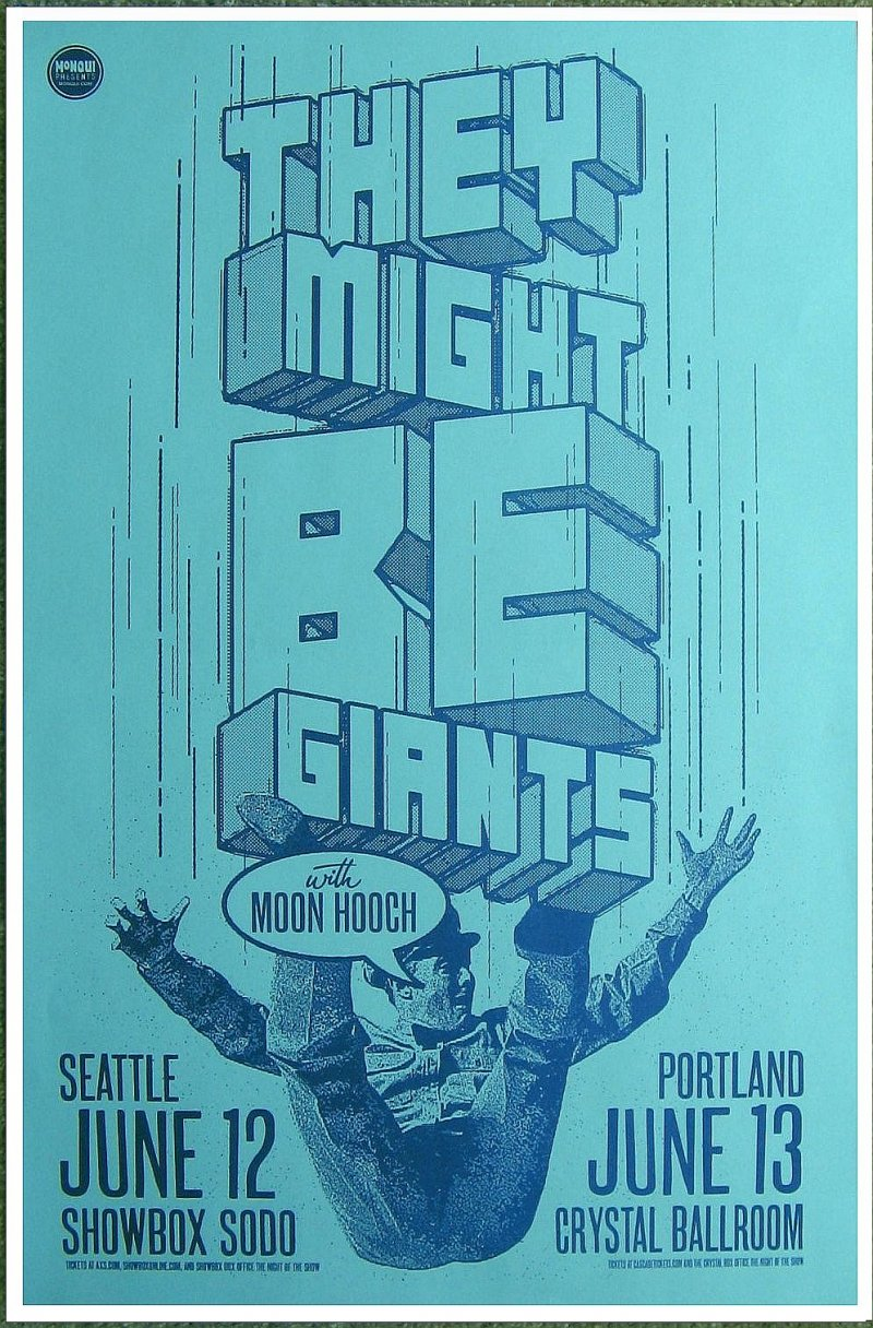 Image 0 of THEY MIGHT BE GIANTS 2013 Gig POSTER Seattle & Portland Oregon Concert