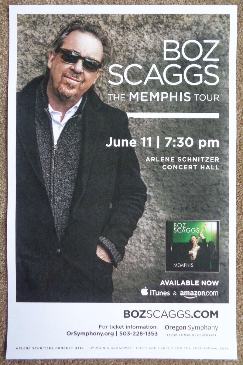 Image 0 of Scaggs BOZ SCAGGS 2013 Gig POSTER Portland Oregon Concert