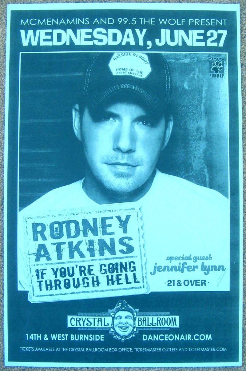 Atkins RODNEY ATKINS 2007 Gig POSTER Portland Oregon Concert