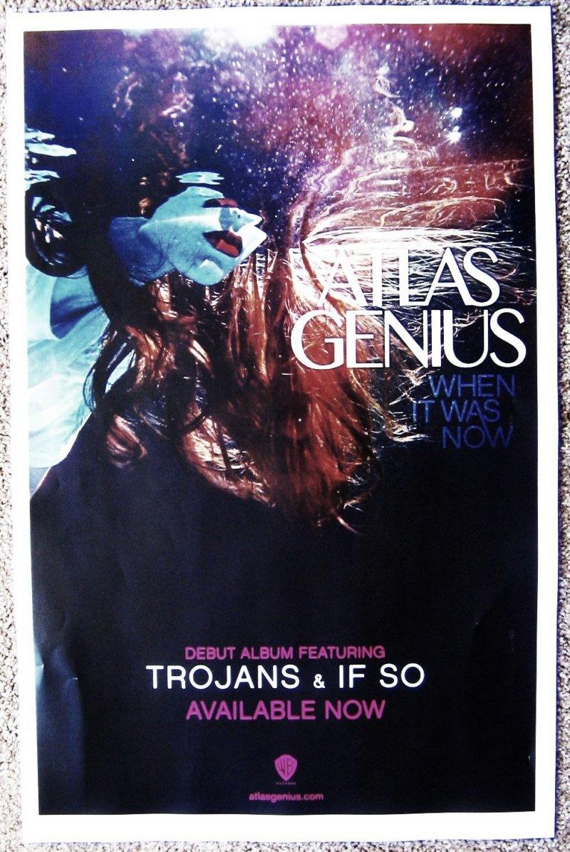 ATLAS GENIUS Album POSTER When It Was Now Debut 11X17
