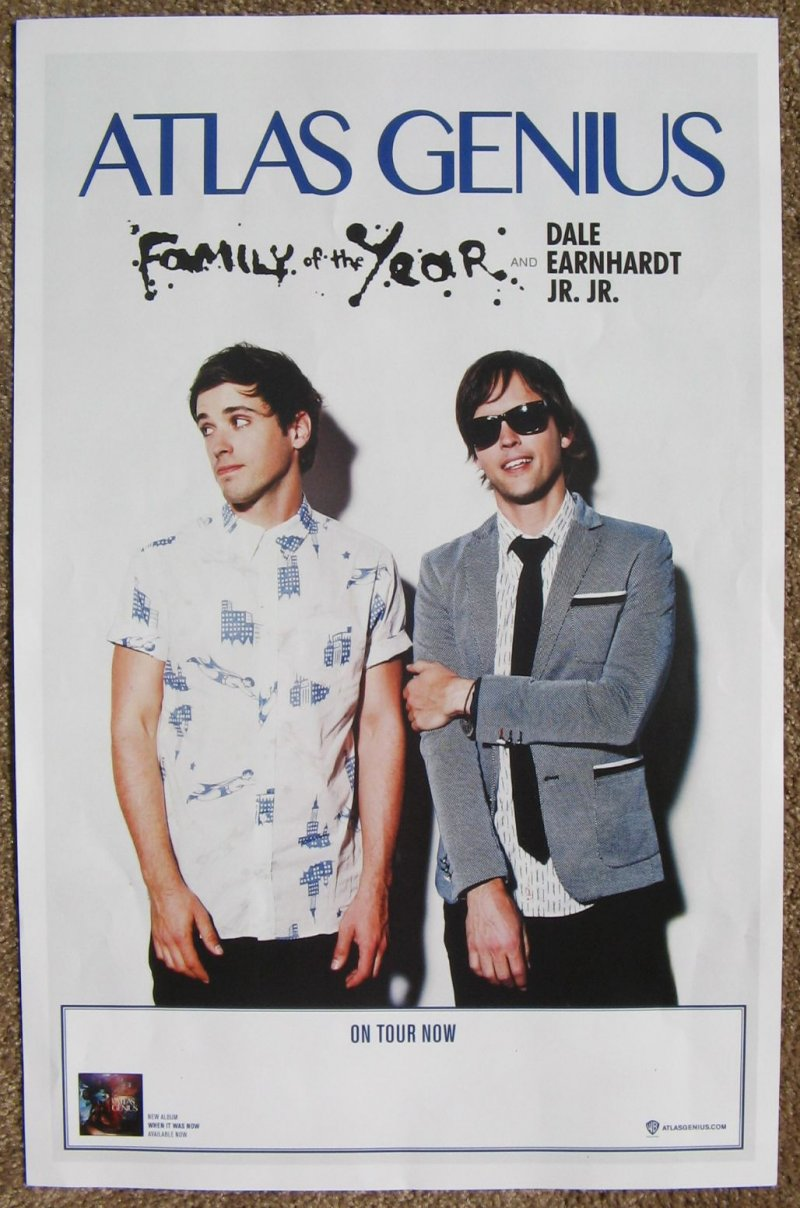 ATLAS GENIUS 2013 Tour POSTER Gig Concert FAMILY OF THE YEAR