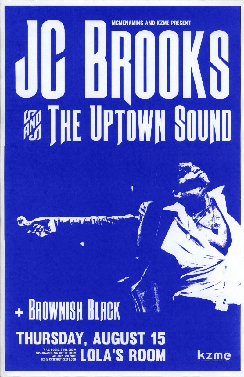 Brooks JC BROOKS & THE UPSIDE SOUND 2013 Gig POSTER Portland Oregon Concert