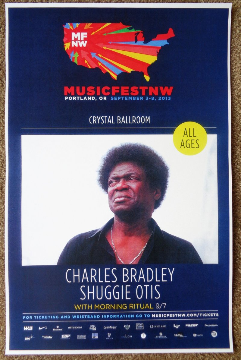 Image 0 of Bradley CHARLES BRADLEY 2013 Gig POSTER MFNW Musicfest NW Portland Oregn Concert