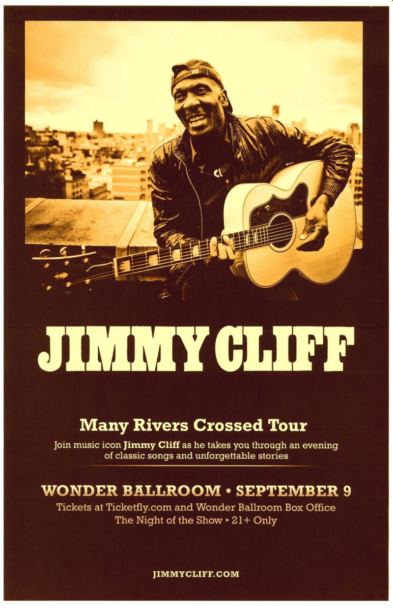 Cliff JIMMY CLIFF 2013 Gig POSTER Portland Oregon Concert Reggae