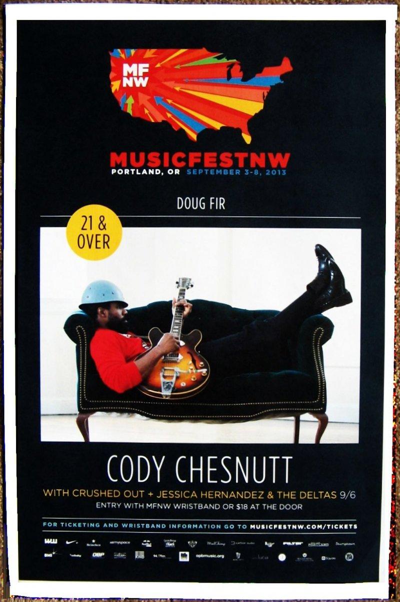 Chesnutt CODY CHESNUTT 2013 Gig POSTER MFNW Musicfest NW Portland Oregon Concert