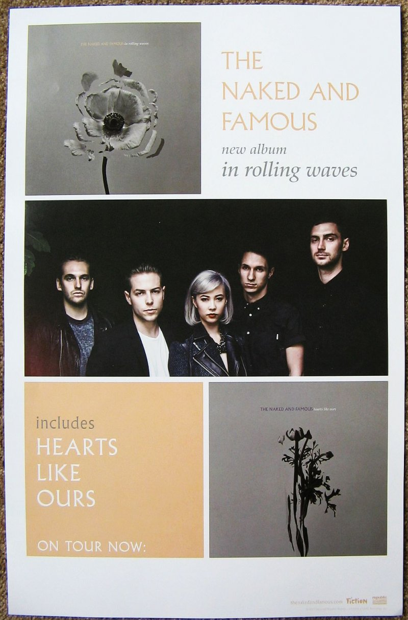 Image 0 of Naked And Famous THE NAKED AND FAMOUS POSTER 2-Sided In Rolling Waves Album