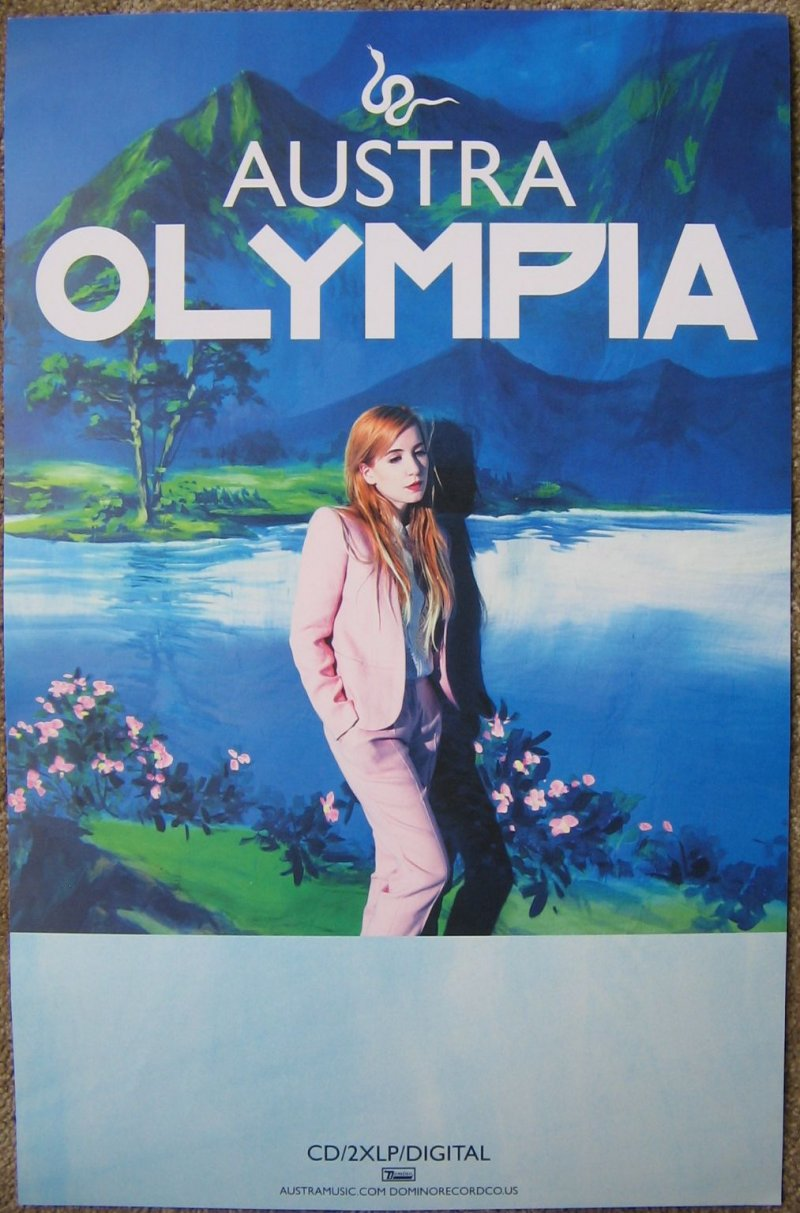 Image 0 of AUSTRA Olympia Album POSTER 2-Sided 11x17