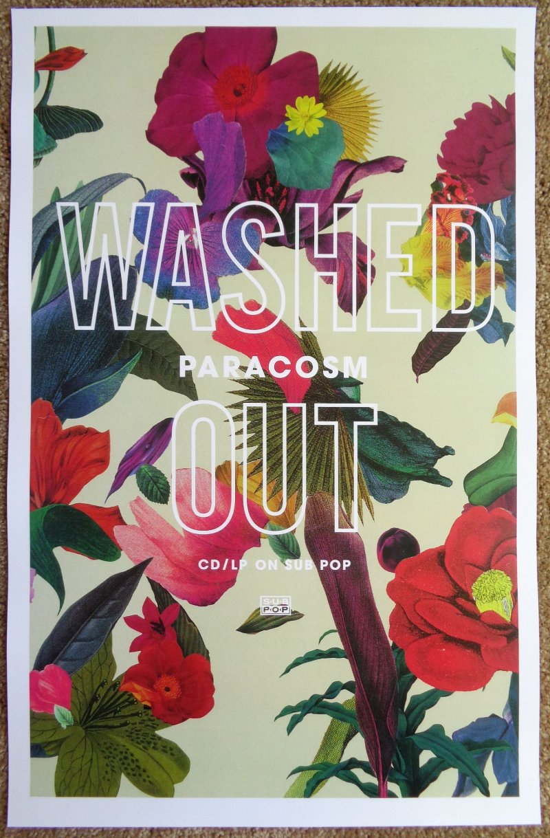 Image 0 of WASHED OUT Album POSTER Paracosm 11 x 17