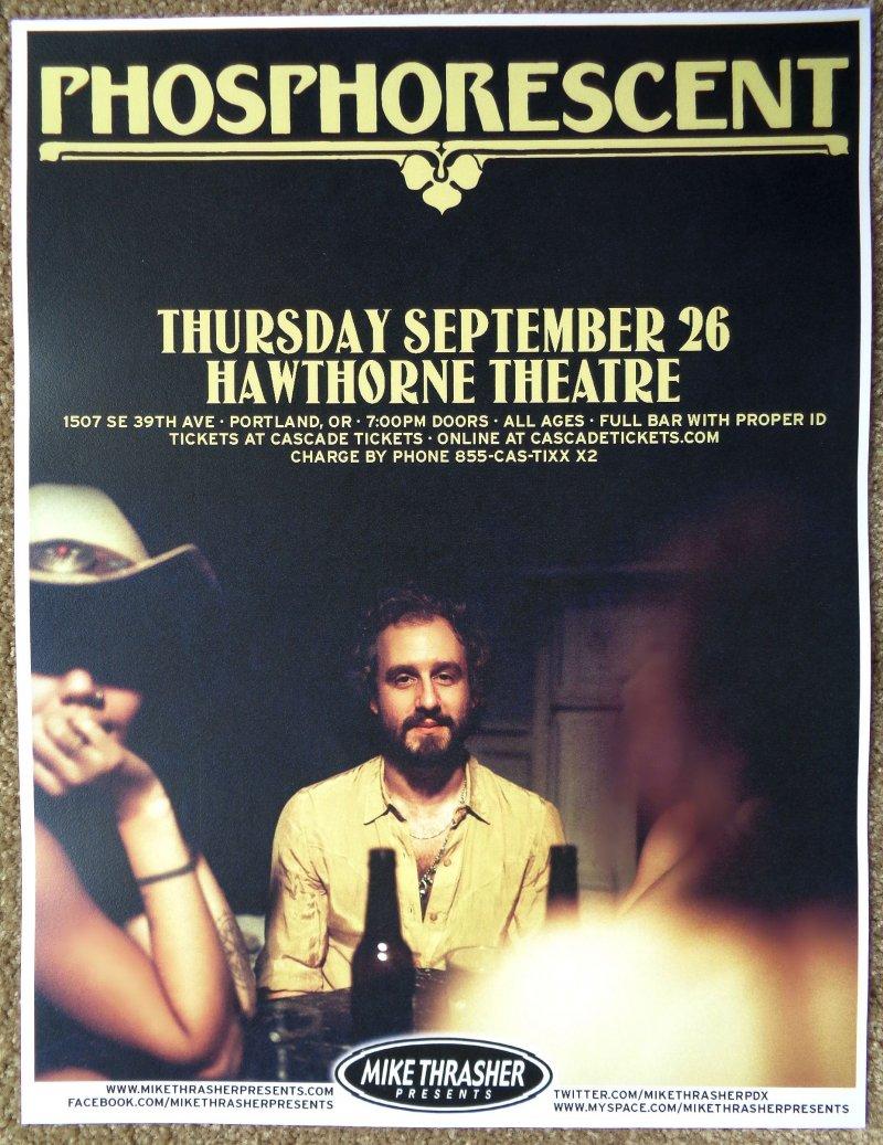 Image 0 of PHOSPHORESCENT 2013 Gig POSTER Muchacho Portland OR. Concert Matthew Houck Sept