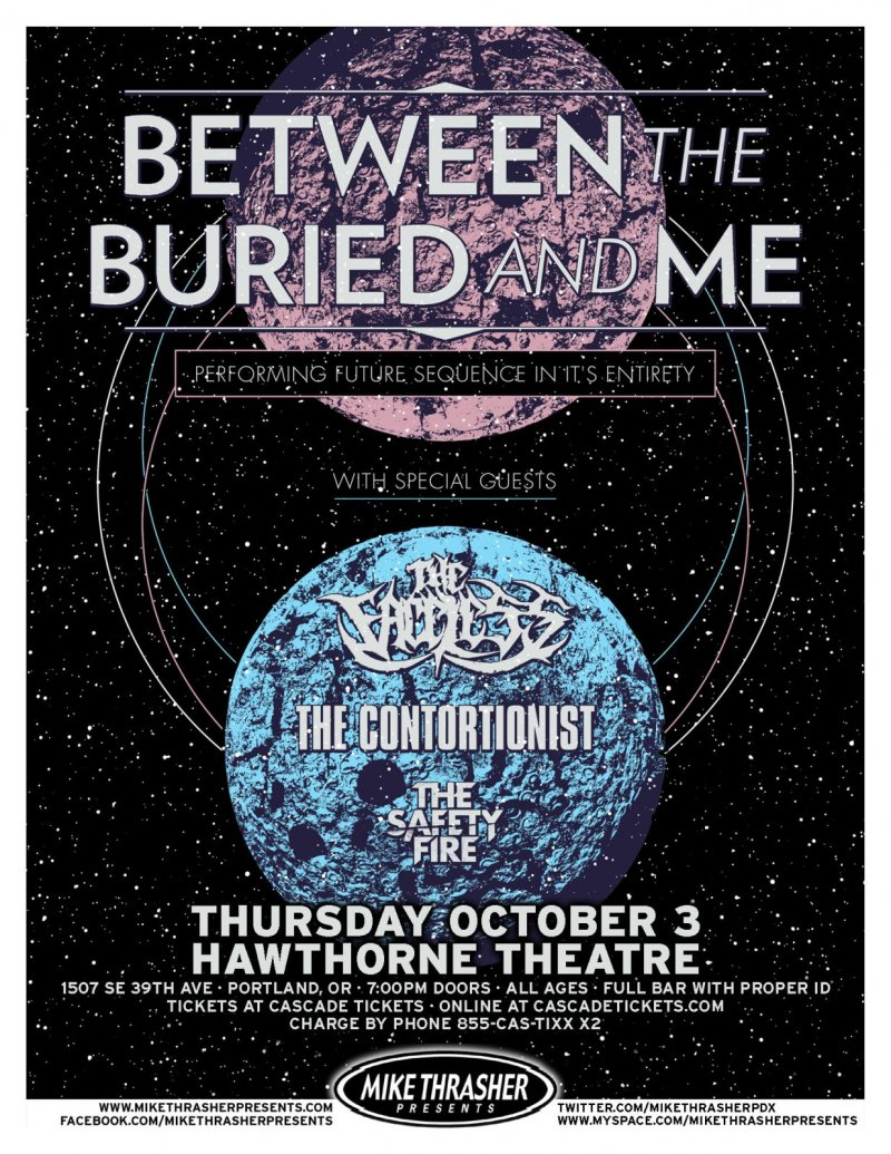 BETWEEN THE BURIED AND ME 2013 Gig POSTER Portland Oregon Concert