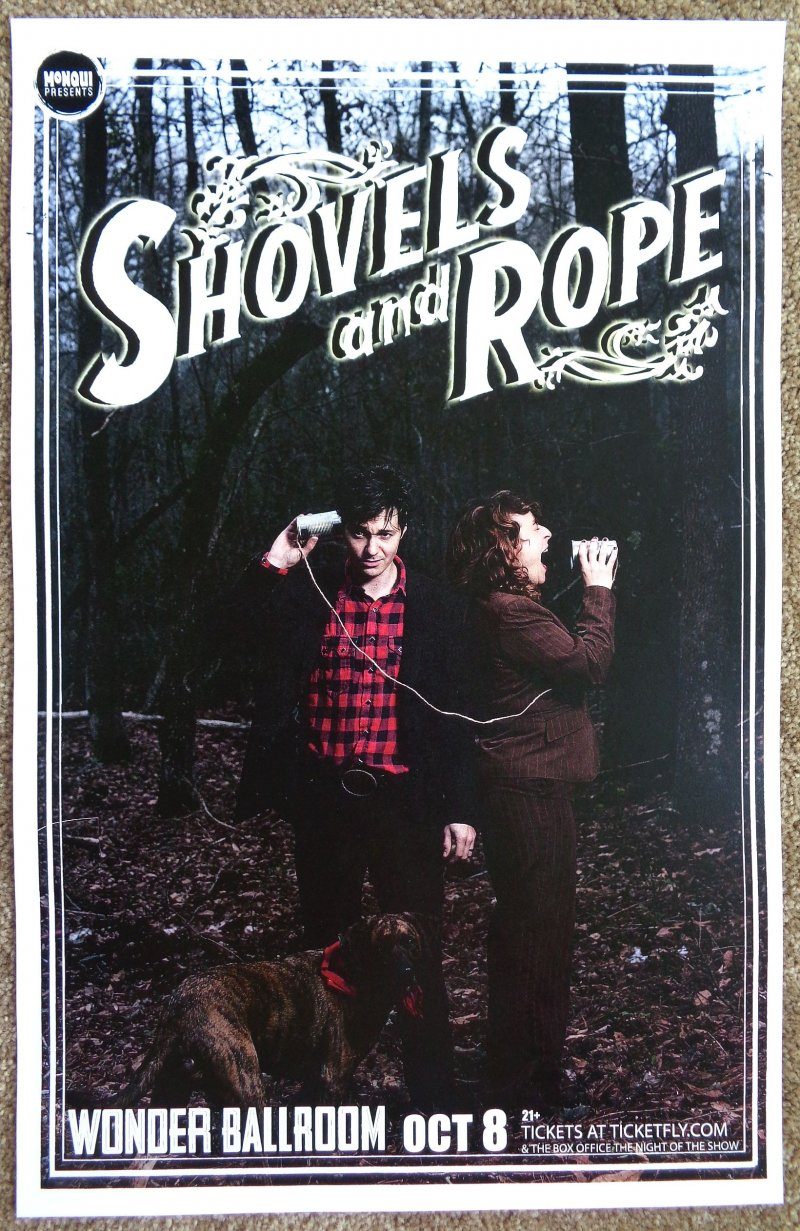 Image 0 of SHOVELS AND ROPE Gig POSTER Oct. 2013 Portland Oregon Concert