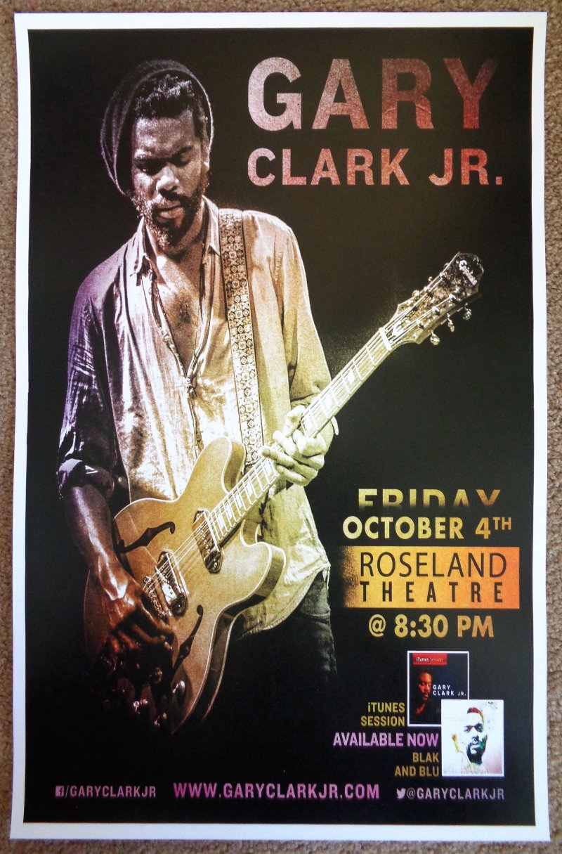 Image 0 of Clark GARY CLARK JR. 2013 Gig POSTER Portland Oregon Concert