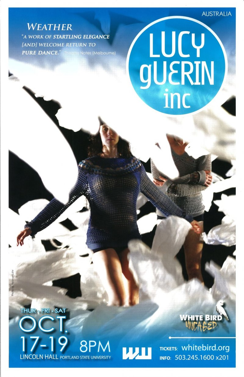 Guerin LUCY GUERIN WHITE BIRD DANCE 2013 POSTER Portland Oregon Weather Gig