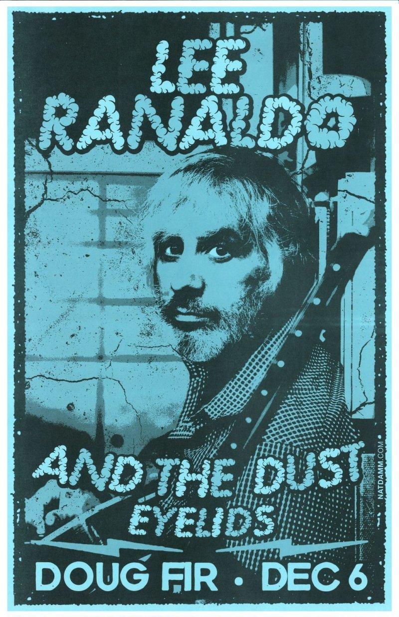 Ranaldo LEE RANALDO Sonic Youth Gig POSTER 2013 Portland Oregon Concert