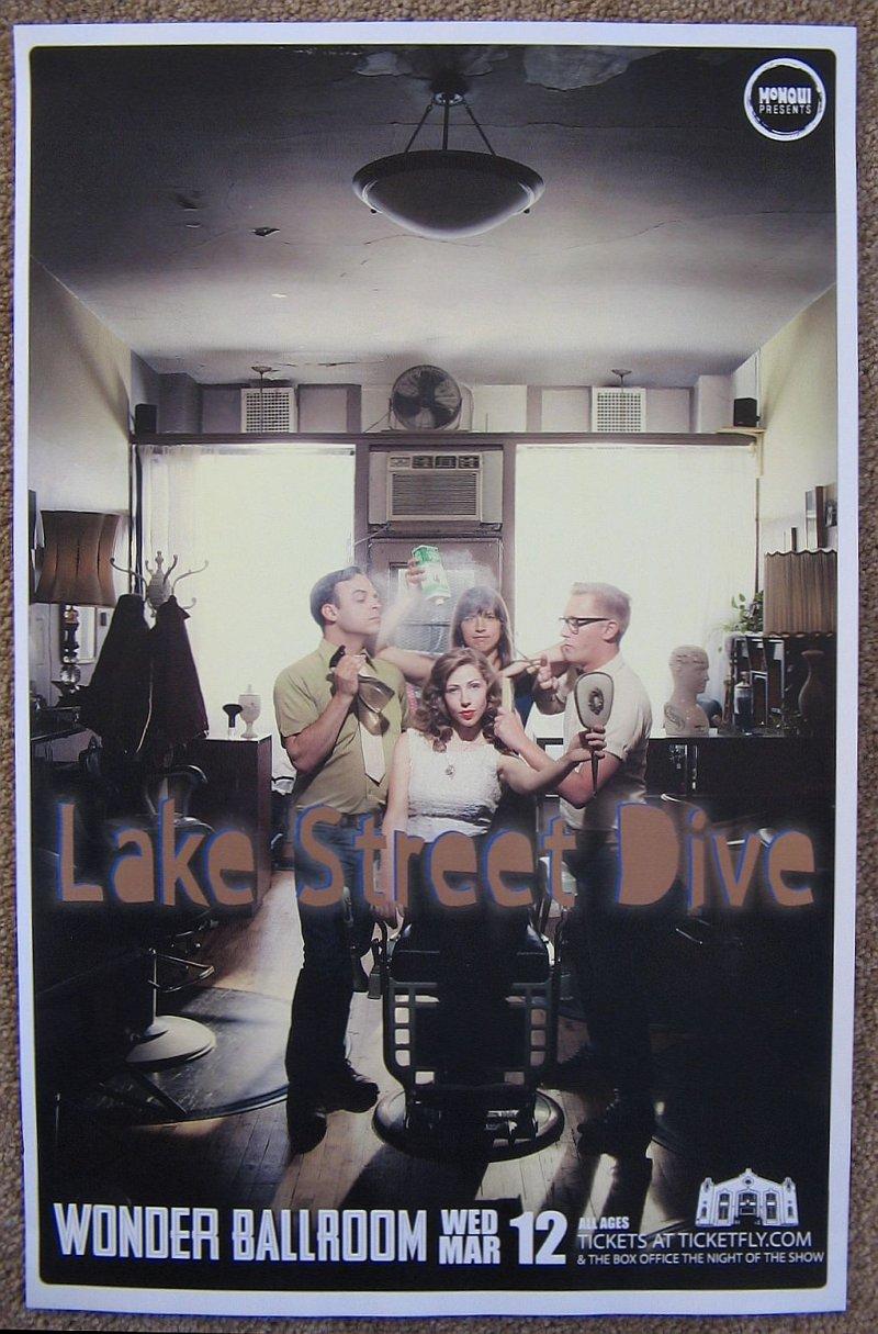Image 0 of LAKE STREET DIVE 2014 Gig POSTER Portland Oregon Concert