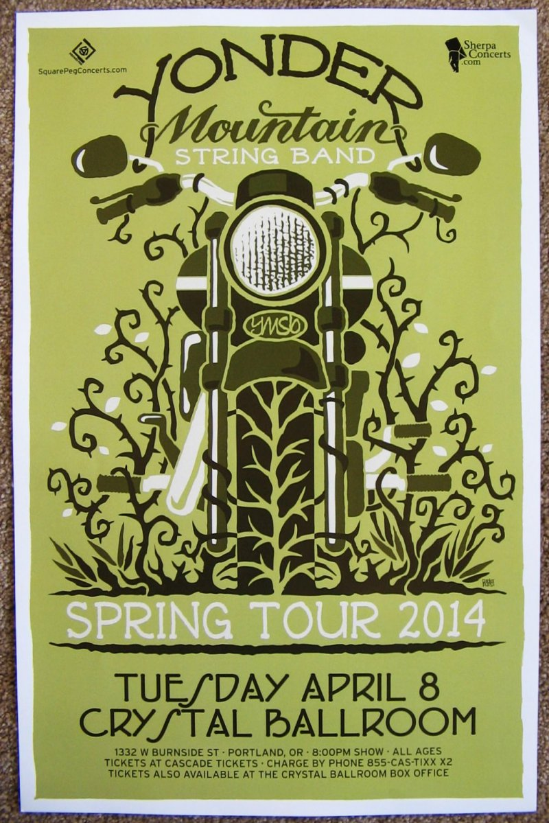 Image 0 of YONDER MOUNTAIN STRING BAND 2014 Gig POSTER Portland Oregon Concert