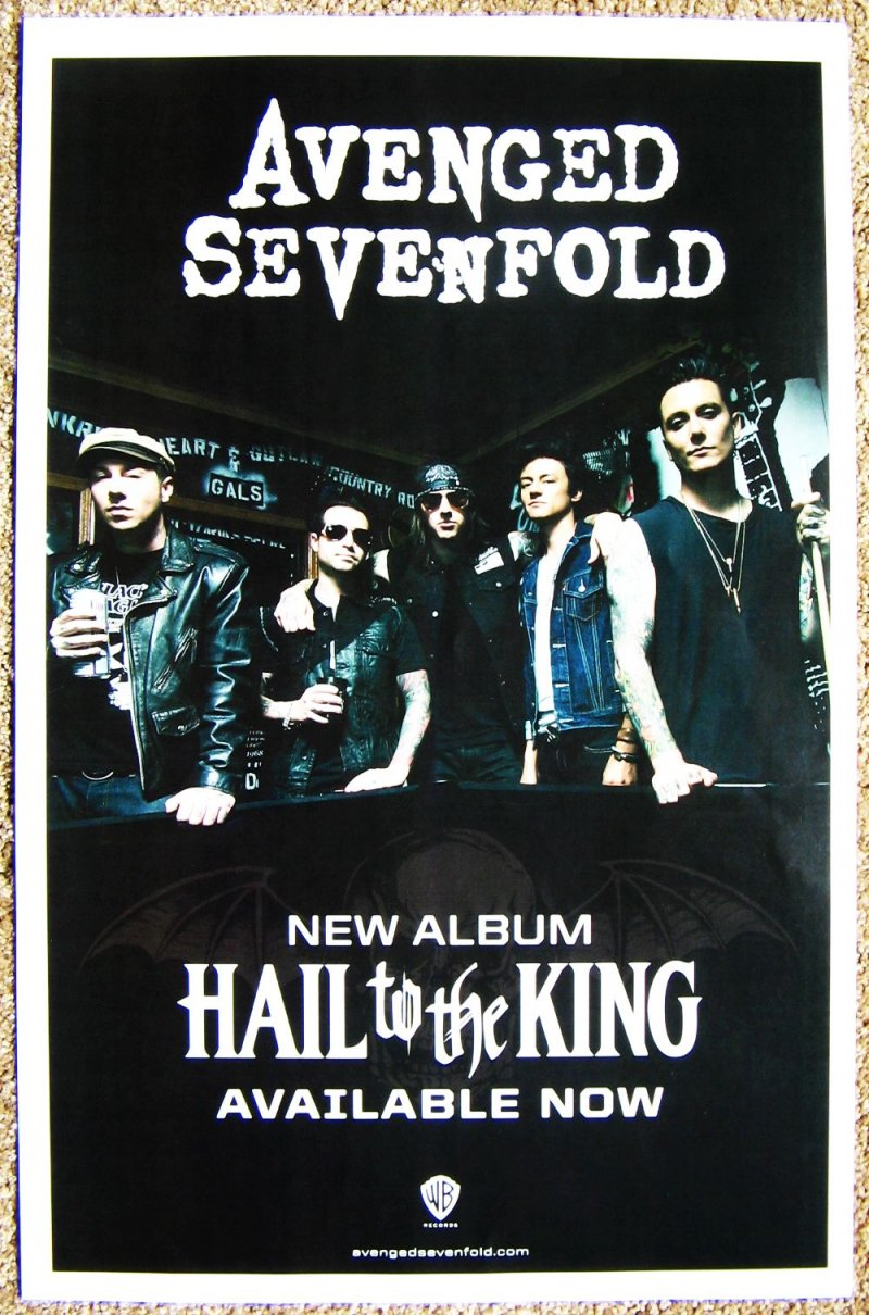 AVENGED SEVENFOLD Album POSTER Hail To The King 2 Sided
