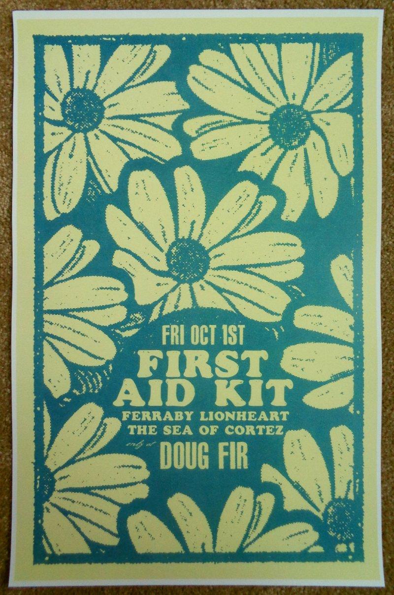 Image 0 of FIRST AID KIT 2010 Gig POSTER Portland Oregon Concert