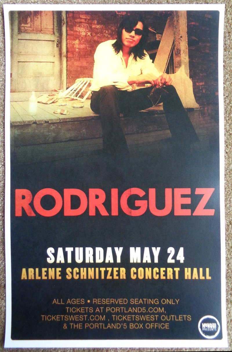 Image 0 of Rodriguez SIXTO RODRIGUEZ 2014 Gig POSTER Sugar Man Portland Cold Facts Concert