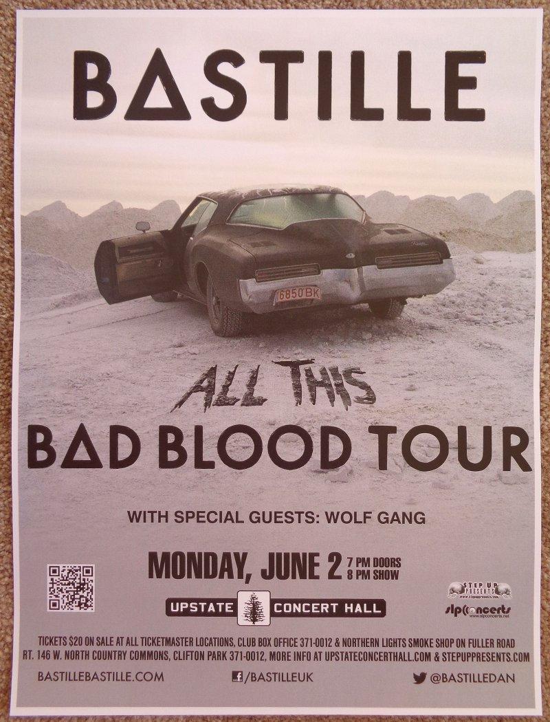 Image 0 of BASTILLE 2014 Gig POSTER Concert Clifton Park New York Pompeii Bad Blood