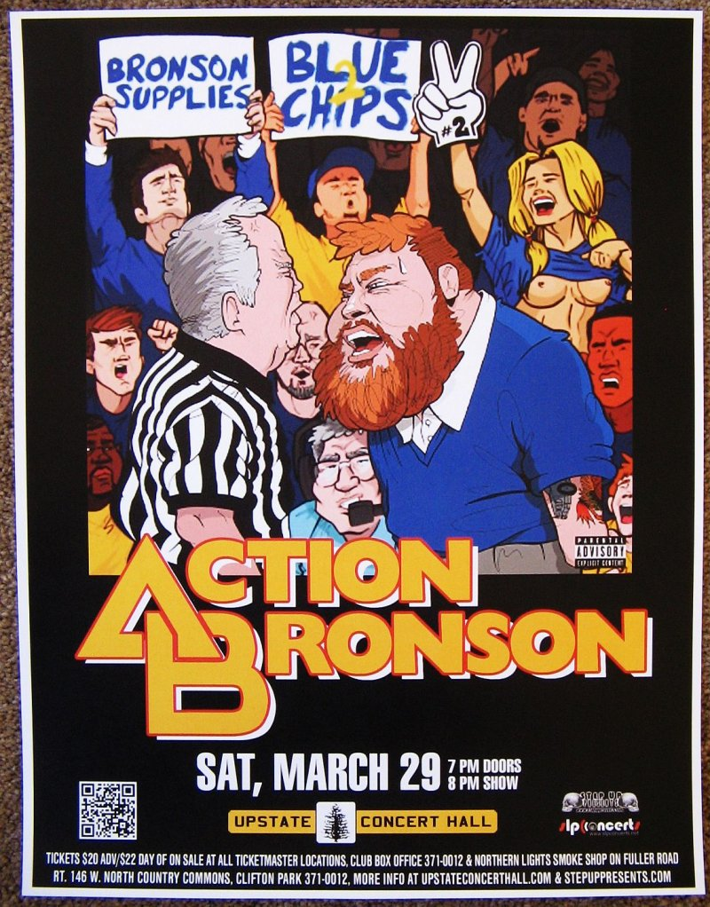 ACTION BRONSON 2014 Gig POSTER Concert Clifton Park New York