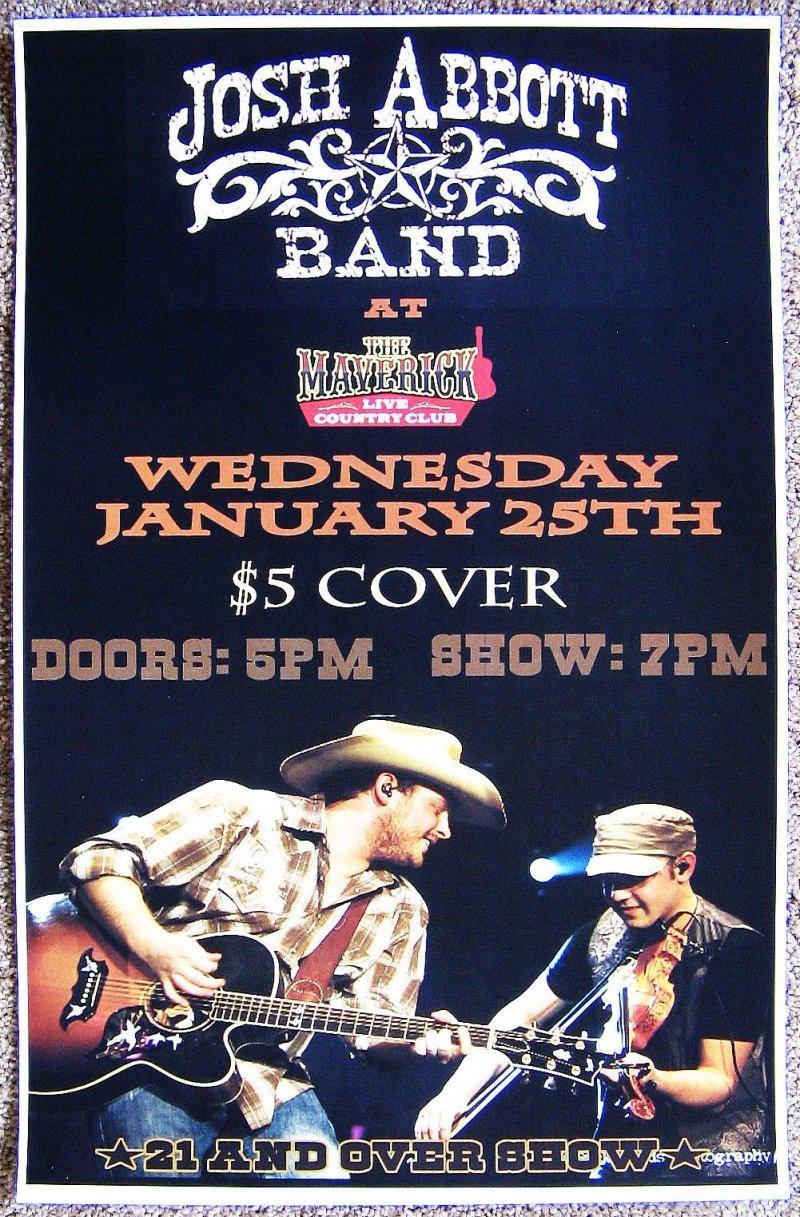 Abbott JOSH ABBOTT BAND 2012 Gig POSTER Tucson Arizona Concert