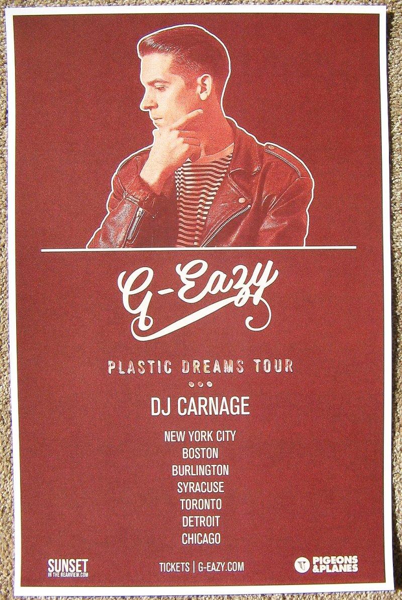 G EAZY Tour POSTER 2012 Plastic Dreams GEasy