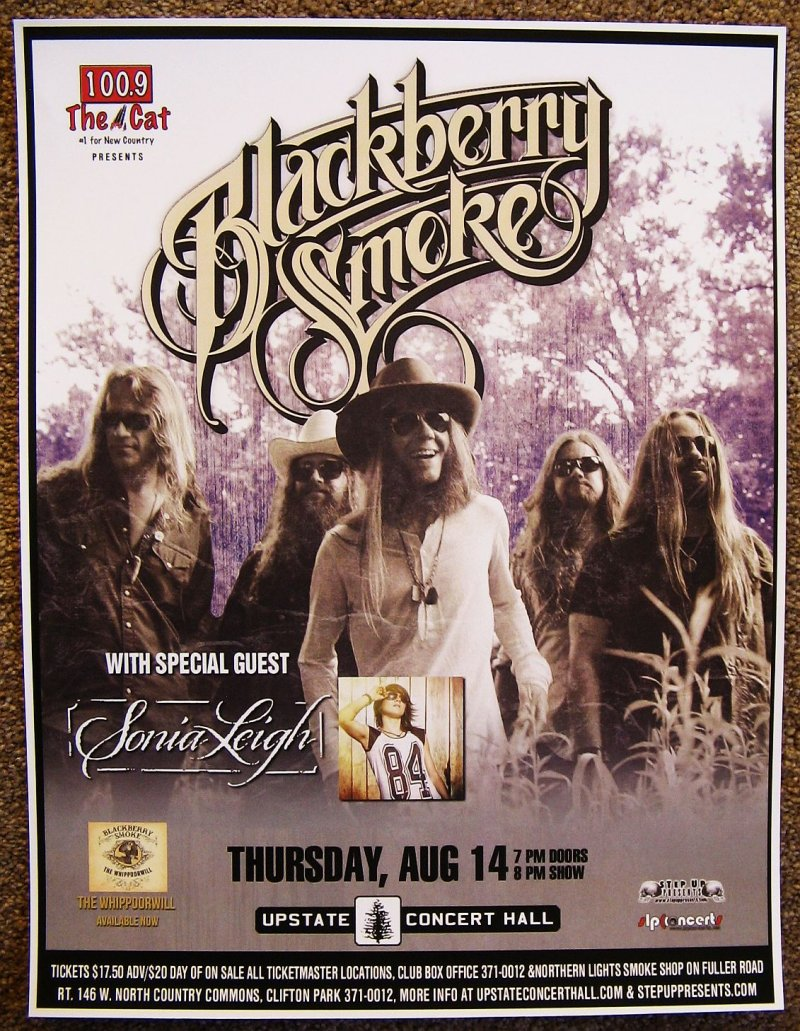 Image 0 of BLACKBERRY SMOKE 2014 Gig POSTER Clifton Park New York Concert