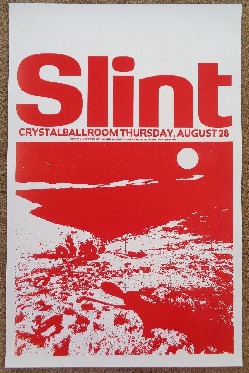 Image 0 of SLINT 2014 Gig POSTER Portland Oregon Concert