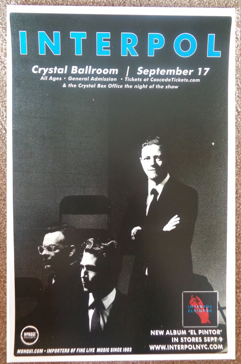 Image 0 of INTERPOL 2014 Gig POSTER Portland Oregon Concert