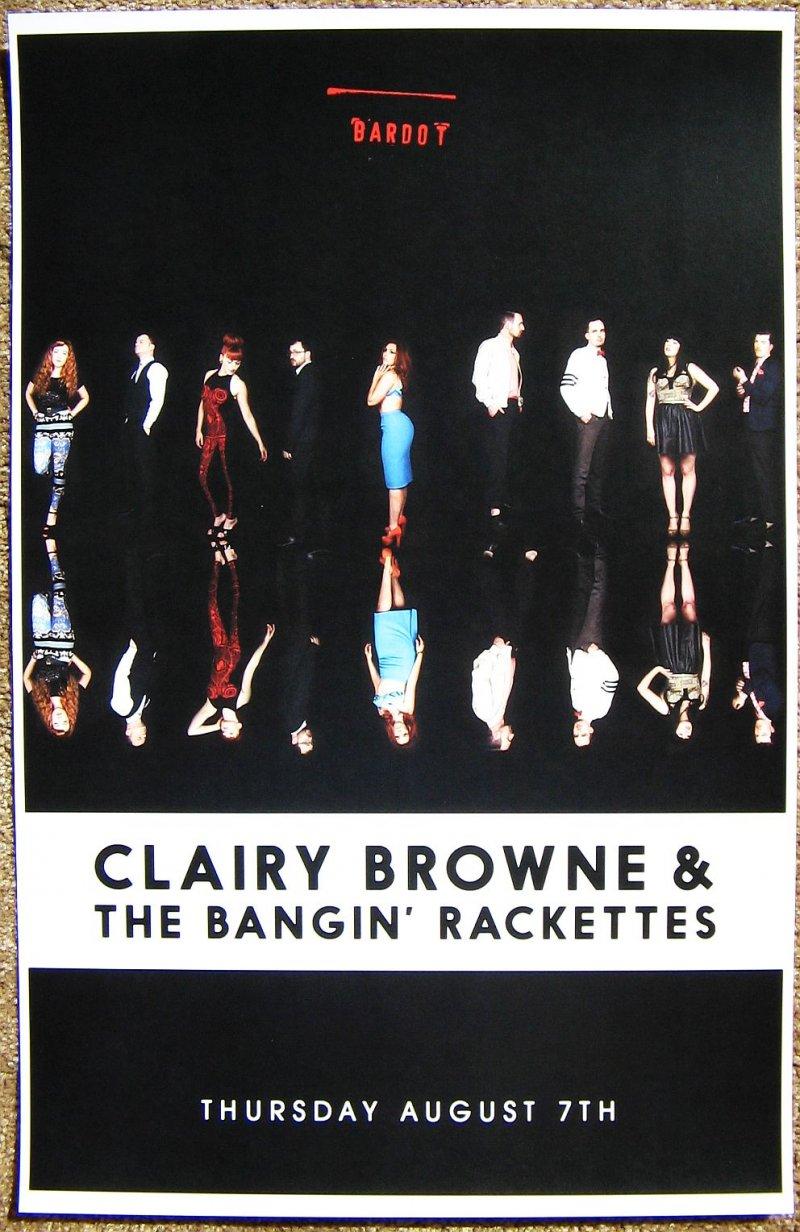 Browne CLAIRY BROWNE & BANGIN' RACKETTES 2014 Gig POSTER Miami Florida Concert
