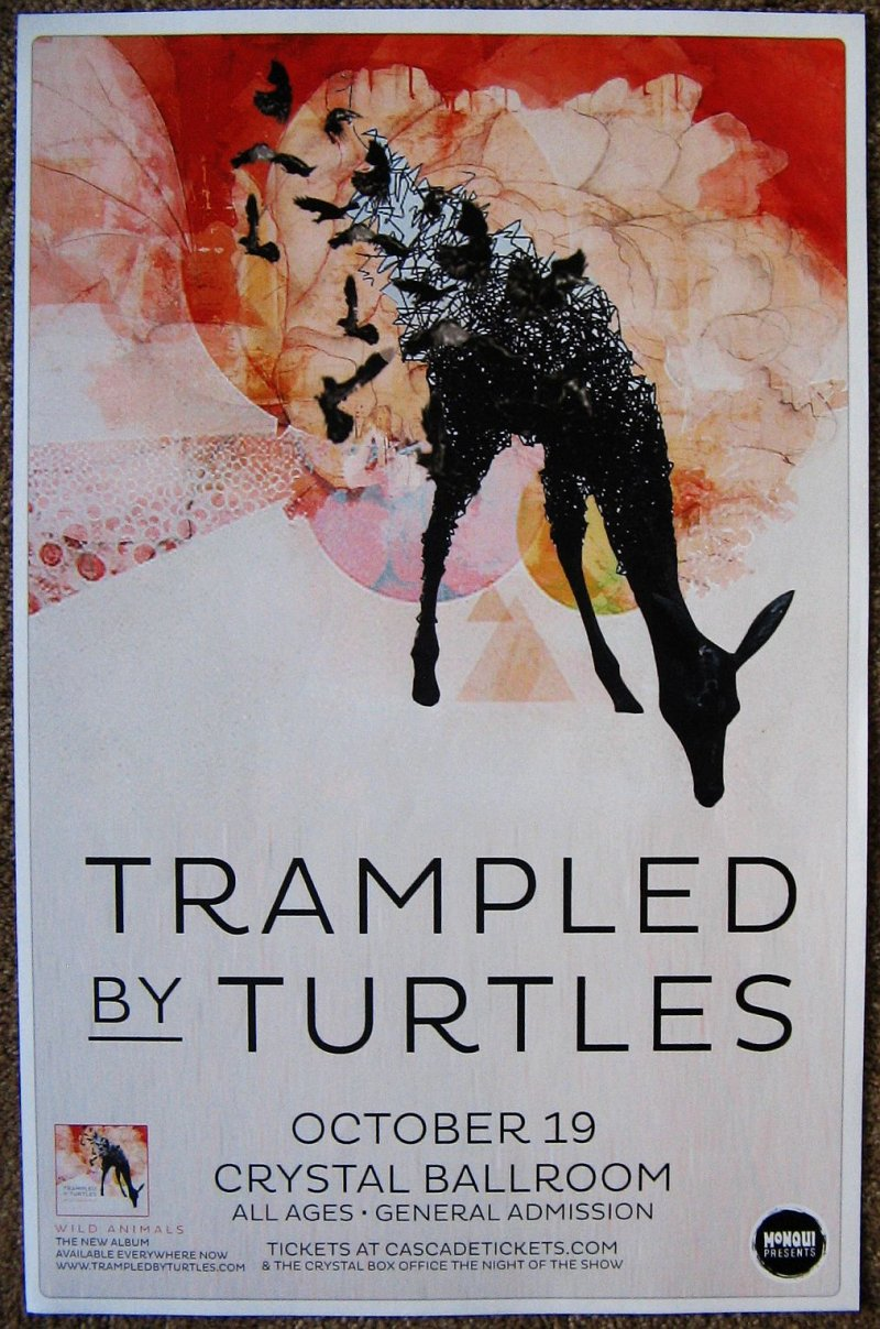 Image 0 of TRAMPLED BY TURTLES 2014 Gig POSTER Portland Oregon Concert
