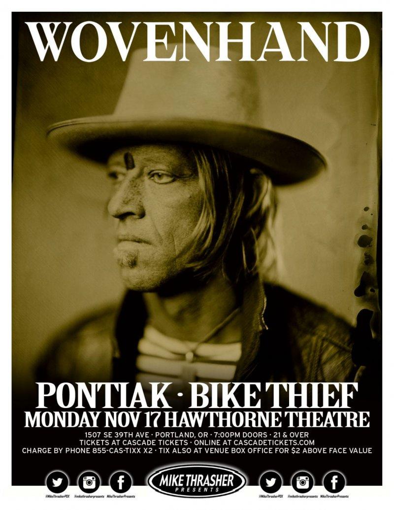 Image 0 of WOVENHAND 2014 Gig POSTER Portland Oregon Concert