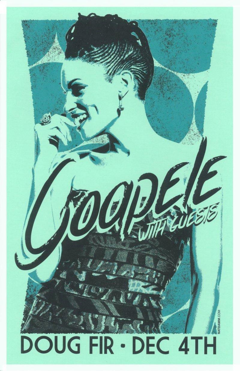 GOAPELE 2014 Gig POSTER Portland Oregon Concert