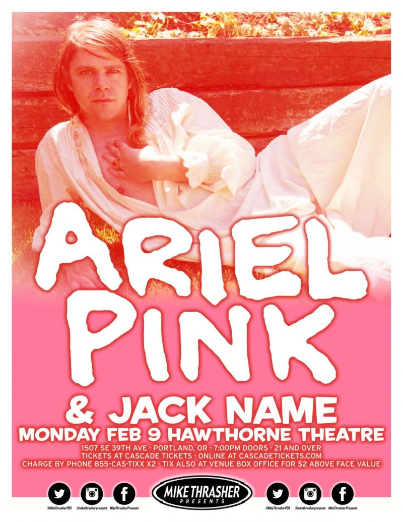 Ariel Pink 2015 Gig Poster Portland Oregon Concert