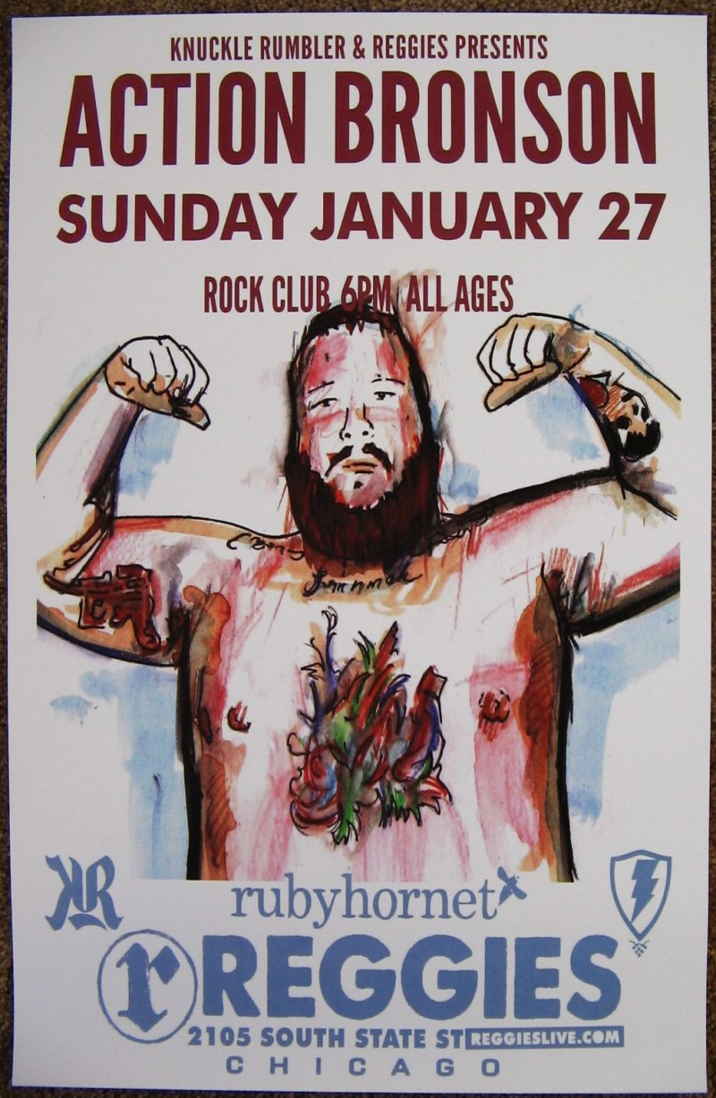 Image 0 of ACTION BRONSON 2013 Gig POSTER Chicago Concert Illinois