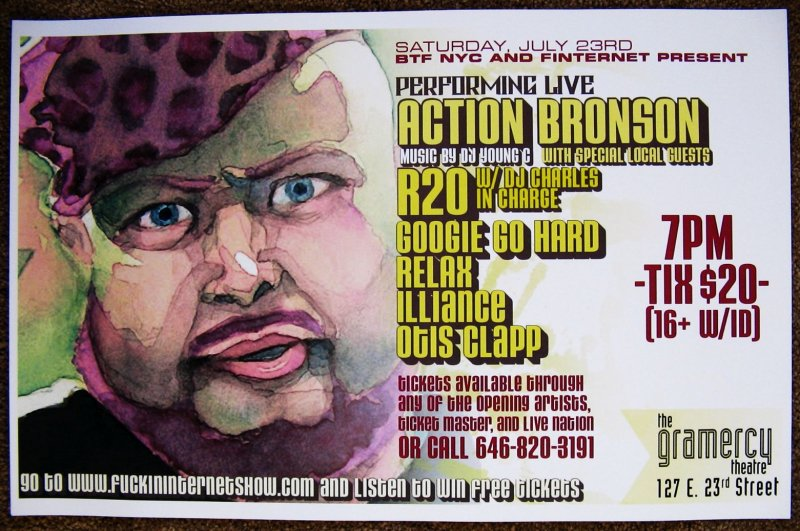 ACTION BRONSON 2011 Gig POSTER New York City Concert