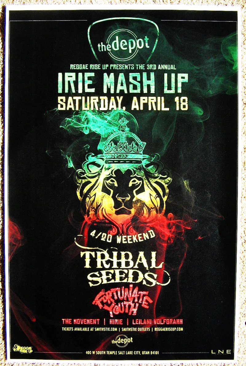 Image 0 of TRIBAL SEEDS 2015 Gig POSTER Reggae Salt Lake City Concert Utah