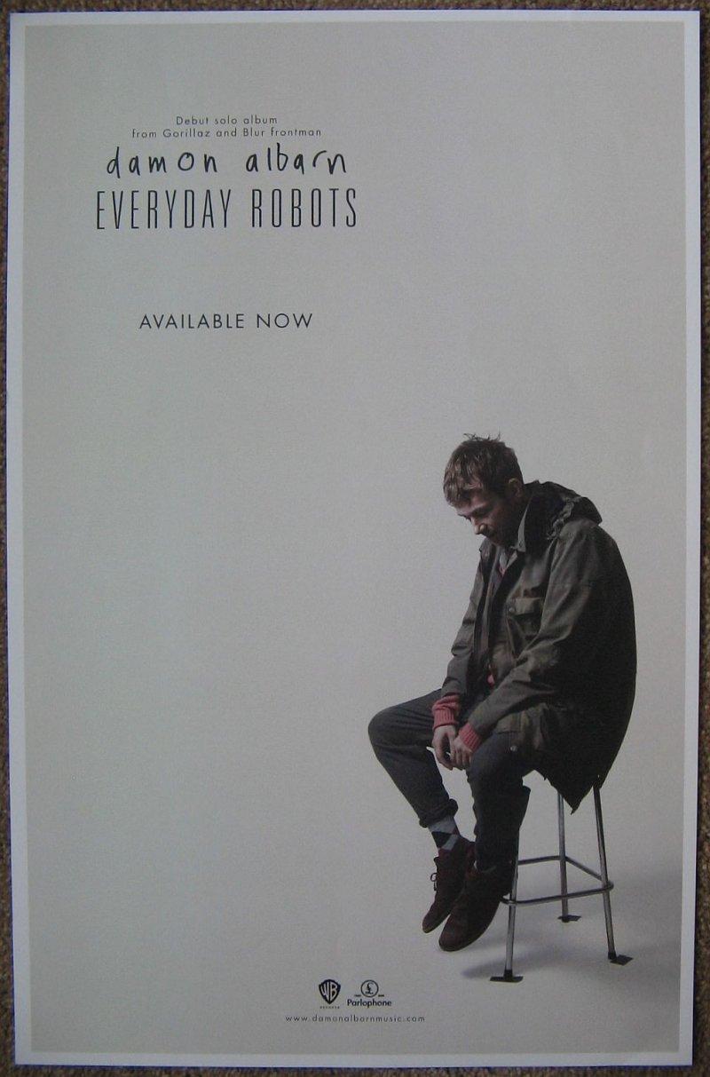 Albarn DAMON ALBARN Album POSTER Everyday Robots BLUR & GORILLAZ 11X17