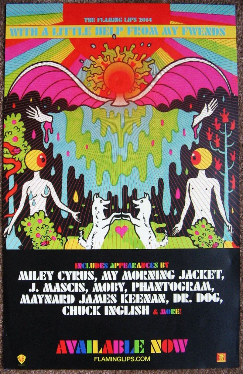 Image 0 of FLAMING LIPS Album POSTER With A Little Help From My Fwends 11x17
