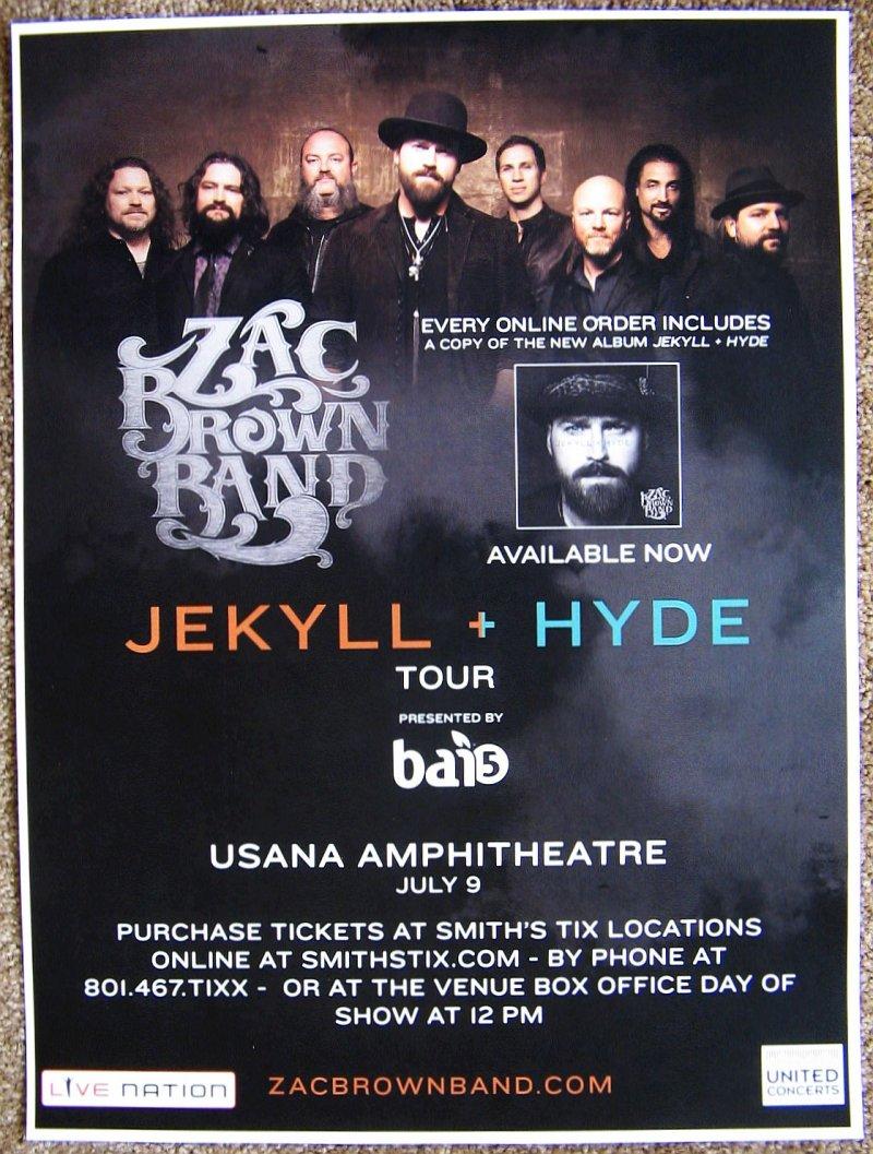 Brown ZAC BROWN BAND 2015 Gig POSTER Utah Concert