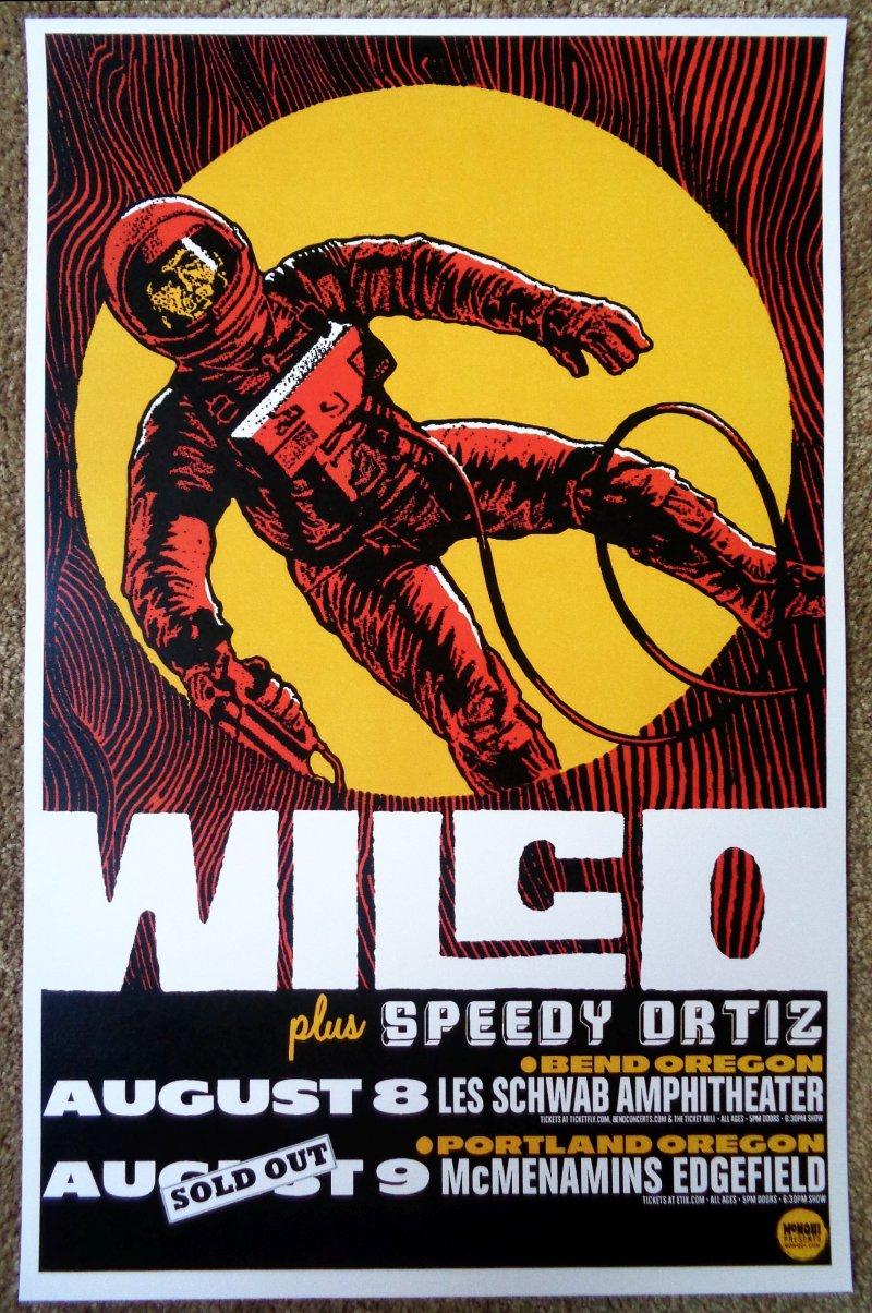 Image 0 of WILCO 2015 Gig POSTER Bend & Edgefield Portland Oregon Concert