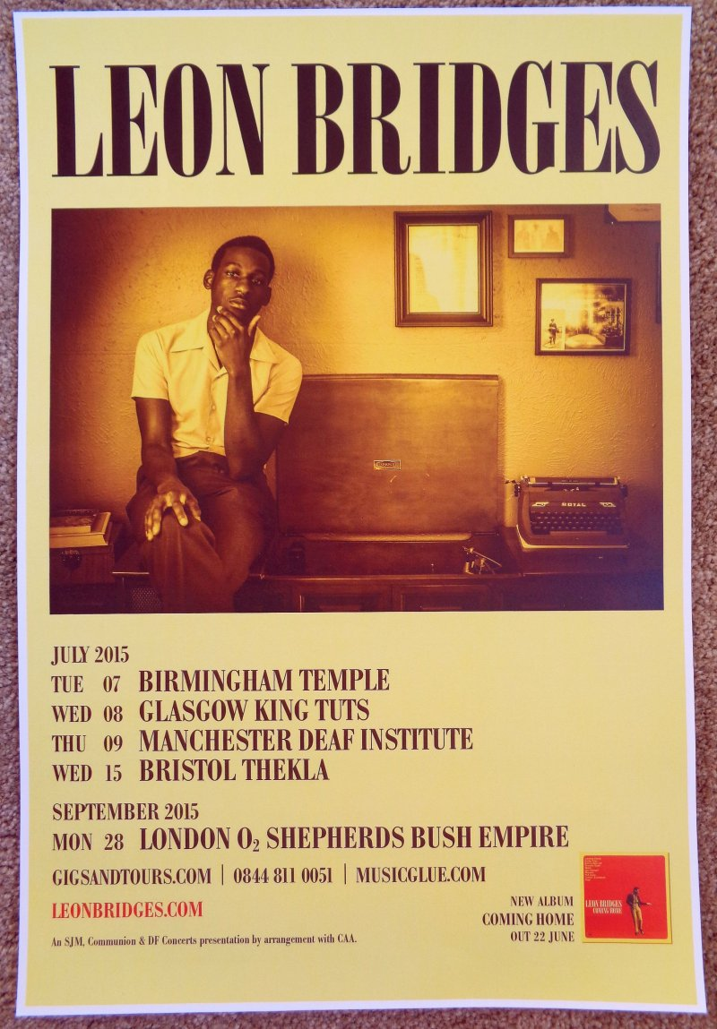 Bridges LEON BRIDGES 2015 UK Tour POSTER Gig Concert