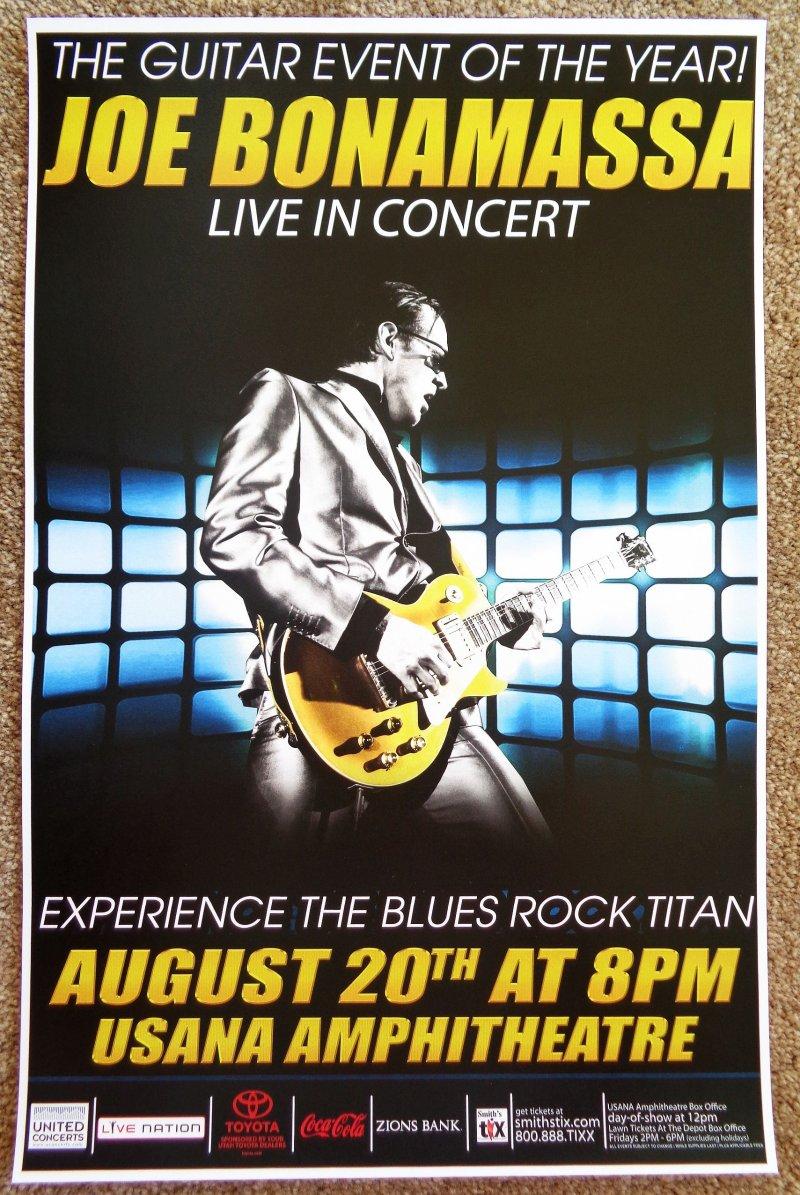 Bonamassa JOE BONAMASSA 2015 Gig POSTER Utah Concert