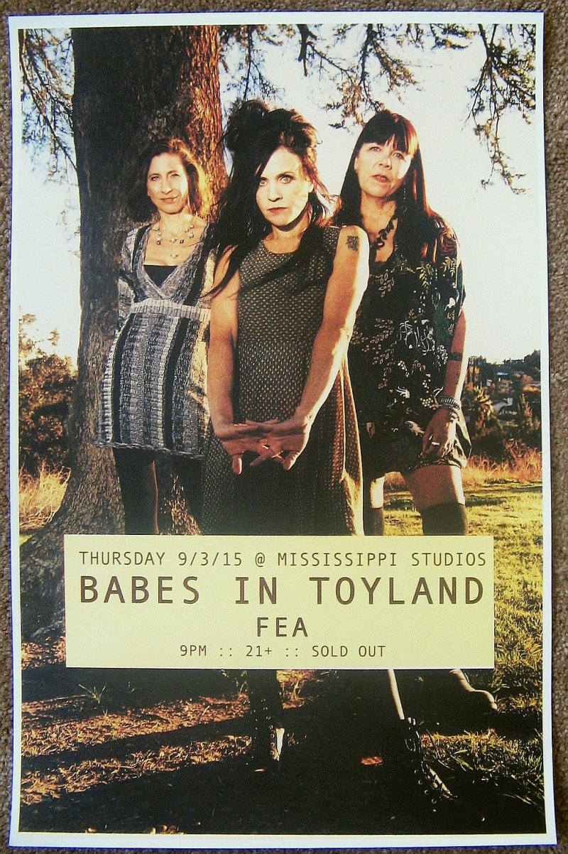 Image 0 of BABES IN TOYLAND 2015 Gig POSTER Portland Oregon Concert