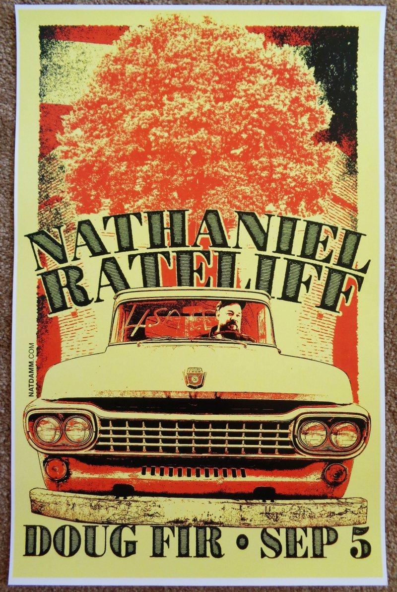 Image 0 of Rateliff NATHANIEL RATELIFF 2015 Gig POSTER Portland Oregon Concert