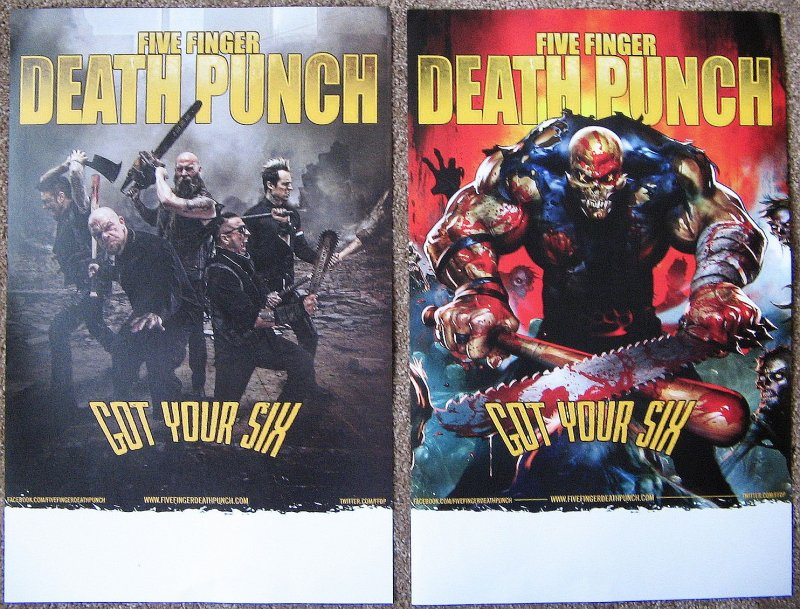 Image 0 of FIVE FINGER DEATH PUNCH 2-Sided Album POSTER Got Your Six